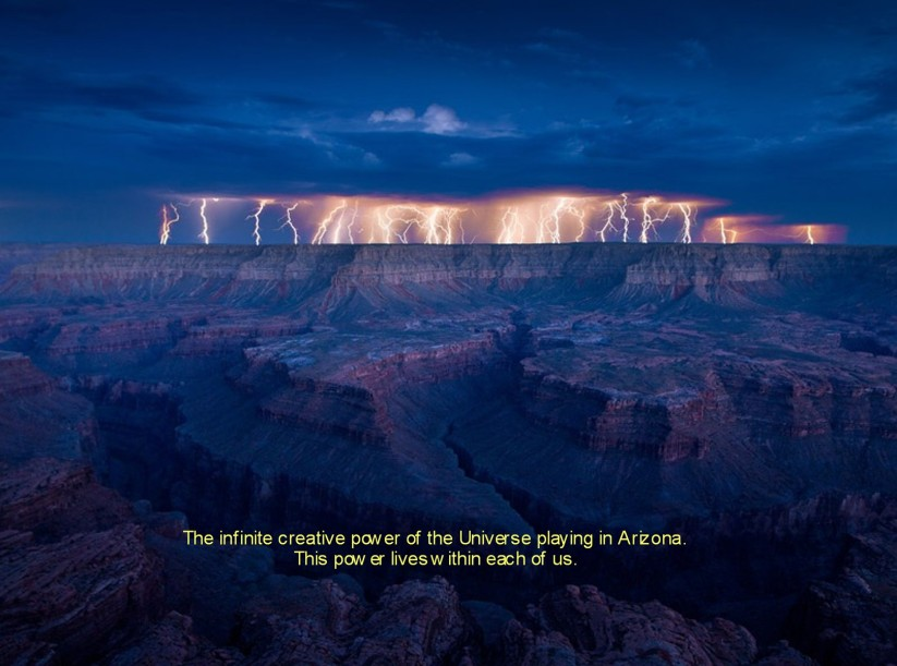 Lightening Over Grand Canyon